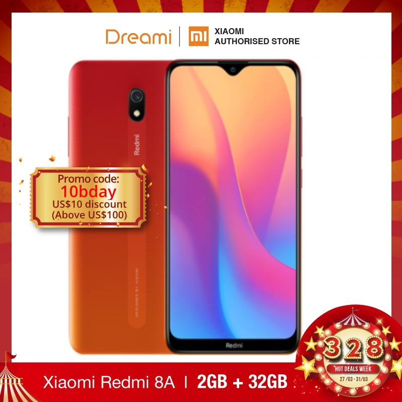 Global Version Xiaomi Redmi 8A 32GB ROM 2GB RAM (LATEST ARRIVALS!!) 8a 32gb