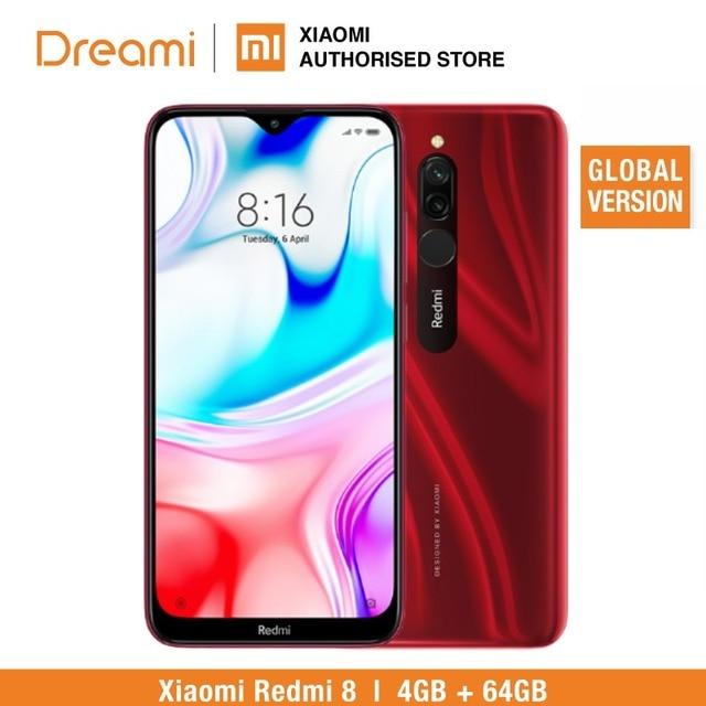 Глобальная версия Redmi 8 64 Гб rom 4 Гб ram (абсолютно новая/запечатанная) redmi 8 64 Гб redmi 864 Мобильный смартфон, телефон, смартфон