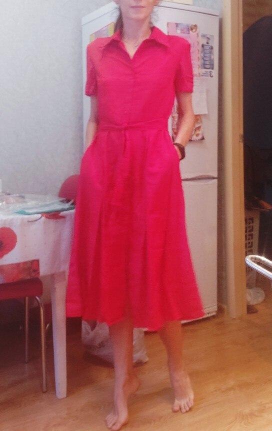 Button Belted Shirt Dress Women Short Sleeve Office Ladies Work Dresses 19 Elegant Womens Midi Dress 7