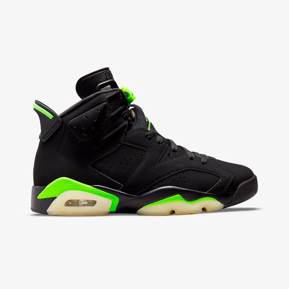 Original Nike Jordan Air Jordan 6 Retro 'Electric Green' Black ...