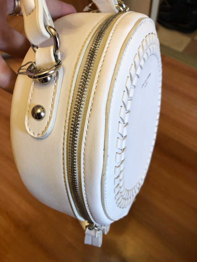 Women Messenger Bags Leather Female Messenger Bags Small Lady Knitting Circular Bag Round Girl  Handbag Drop photo review