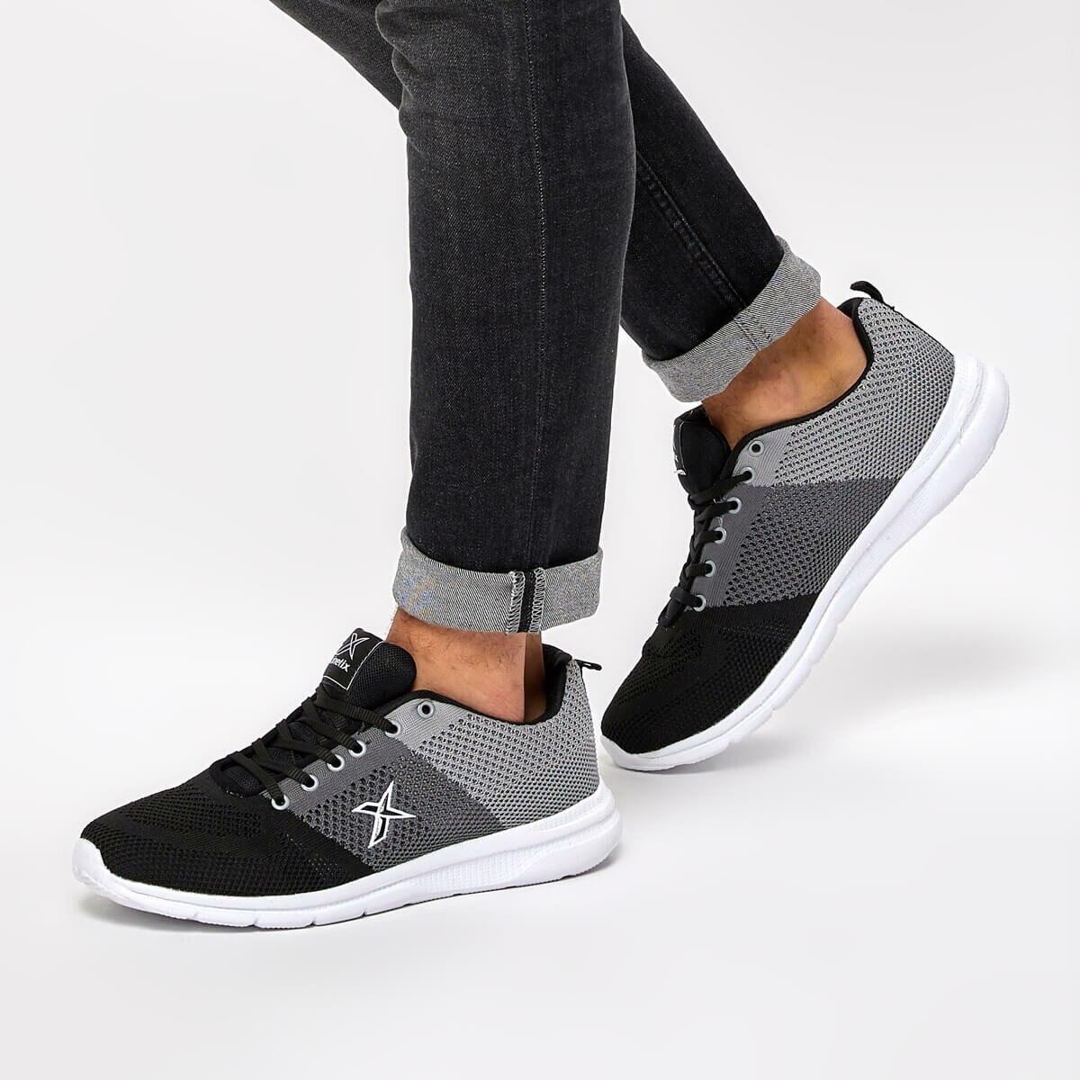 FLO FINARE Black Men 'S Sneaker Shoes KINETIX