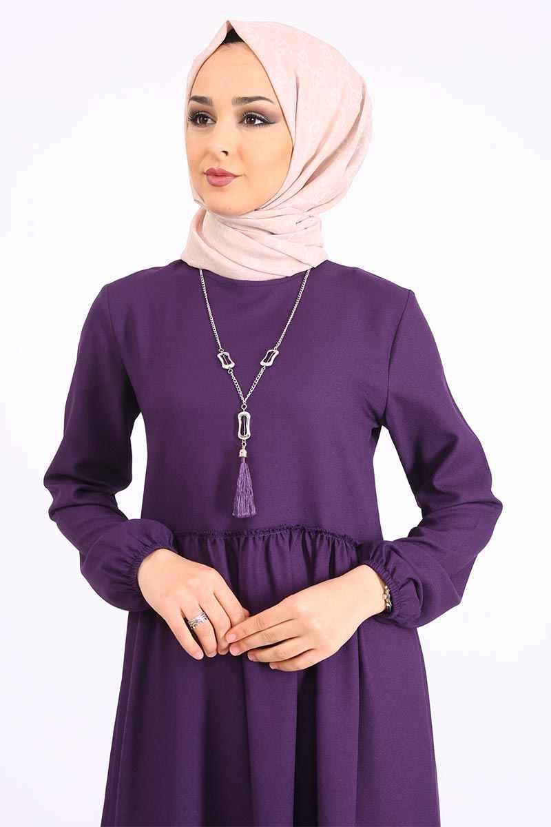 Collana Arricciato Vestito TSD9900 Viola
