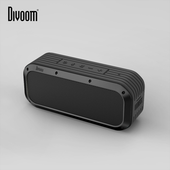 Divoom Voombox-outdoor water resistant bluetooth speakers Output in 15W and 12 hours playback (black)