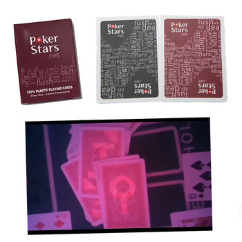 playing card for contact lens magic poker  Texas Holdem Invisible Ink marked card anti cheating card Poker Stars board game uv ink printed barcode card and plastic member key card 3 part supply