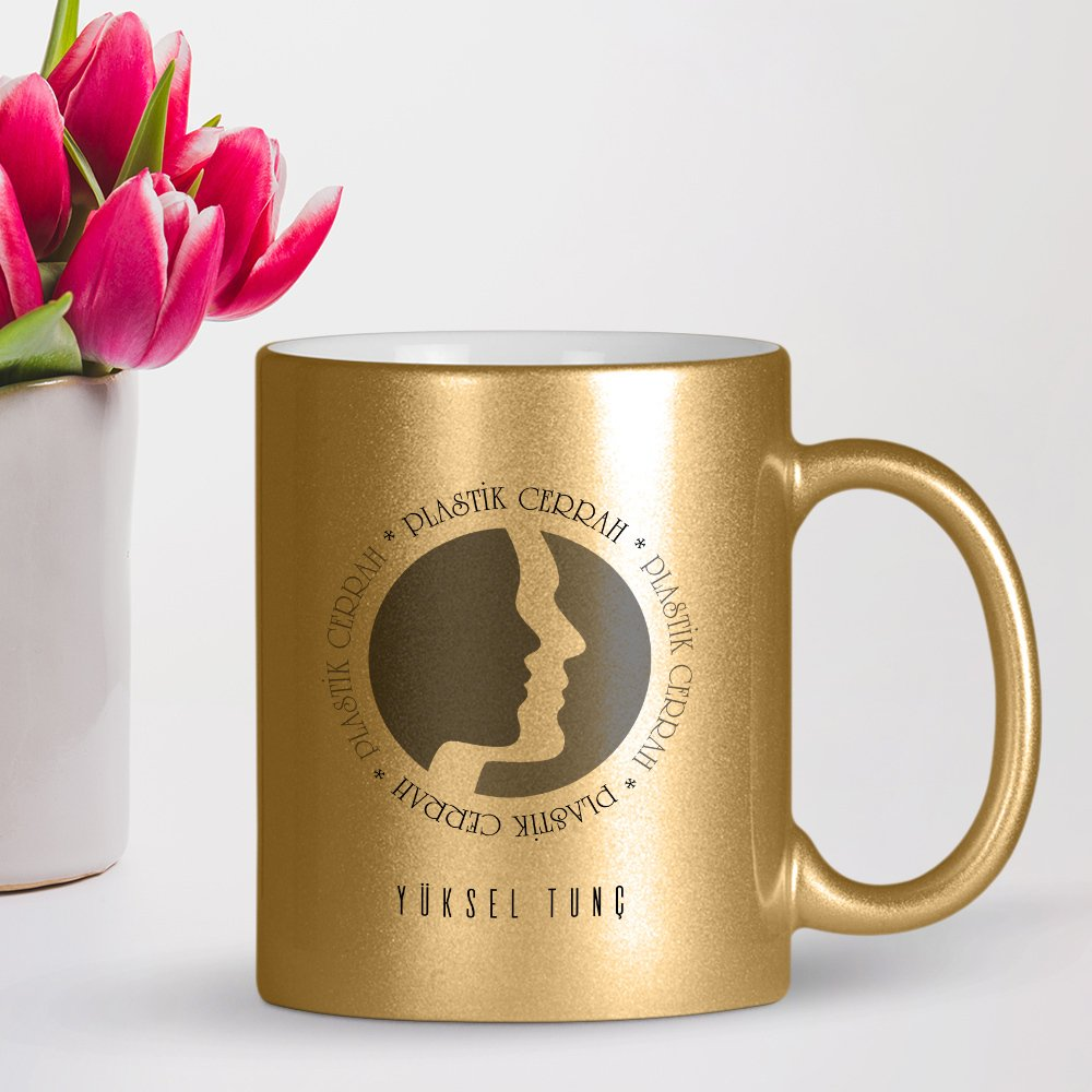 Personalized Professional Plastic Surgeon Gilded Mug Cup image