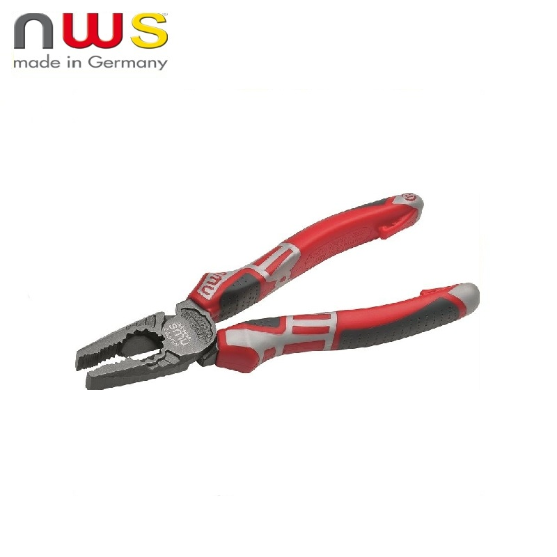 NWS Pliers 165 mm CombiMax, TitanFinish coating, SoftGripp 3K handles Multifunctional pliers Diagonal rolling Cable Wires Side