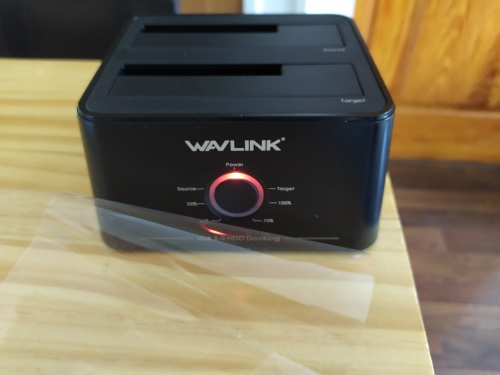 Wavlink Dual Bay SATA to USB3.0 External Hard Drive Docking Station for 2.5/3.5inch HDD/SSD Offline Clone/Backup/UASP Functions reviews №1 38715