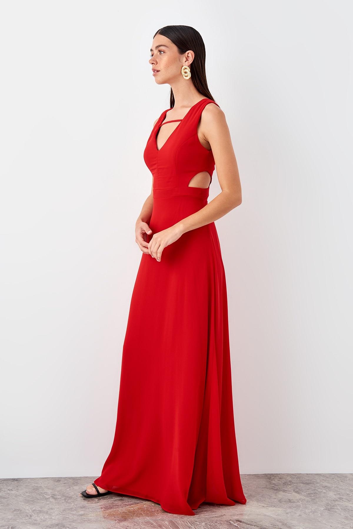 Trendyol Cut Out Detail Evening Dress TPRSS19UT0154
