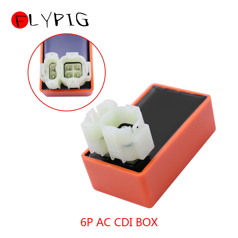 ABS 6 Pin Racing AC CDI BOX Unit Ignition 2 Plug For GY6 50cc 125cc 150cc 139QMB 157QMJ Engines ATV Scooter Go Kart Buggy Moped
