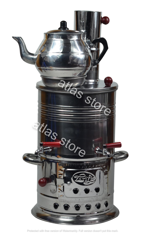 Wood Coal Stove Camp Steel Samovar Tea Coffee Maker With Charcoal