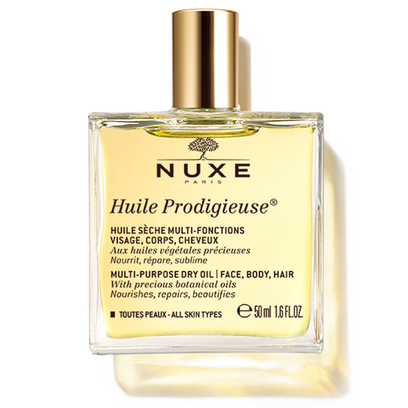Nuxe Dry Oil Huile Prodigieuse® Multi-purpose Dry Oil 50 ML- Nourishes And Beautifies Face, Body And Hair
