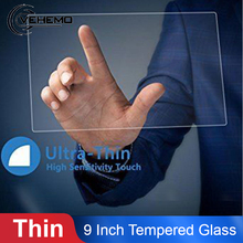 Vehemo закаленное стекло 9 дюймов 198 мм x 112 мм Автомобильный DVD Защитные пленки gps экран протектор Премиум чистый 0,3 мм аксессуары для HD