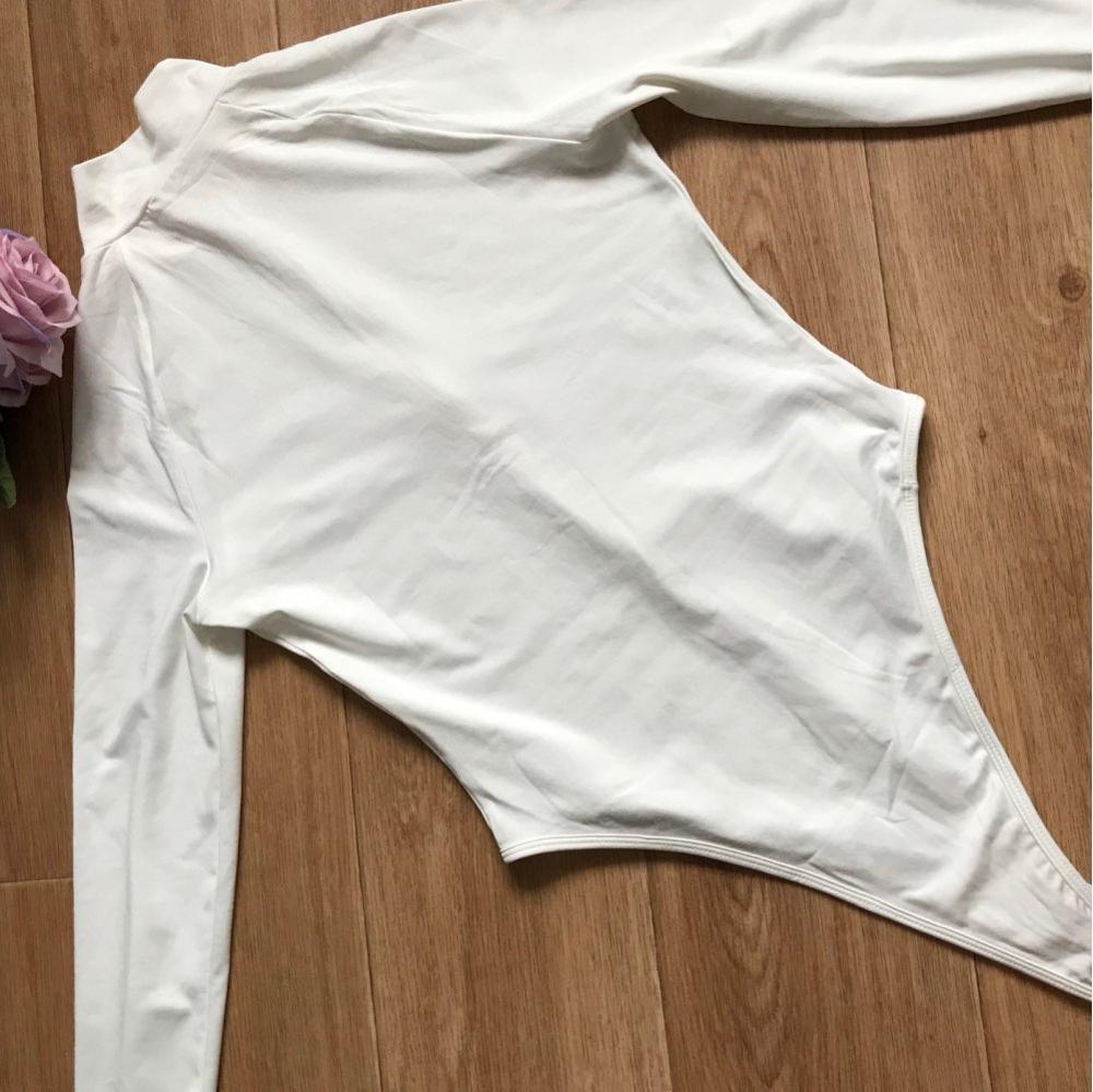 Evenworse Sexy Zipper Bodycon Jumpsuit 2020 Spring Fashion Long Sleeve Round Collar Slim Black Bodysuit Nightclub Club Christmas reviews №10 57215