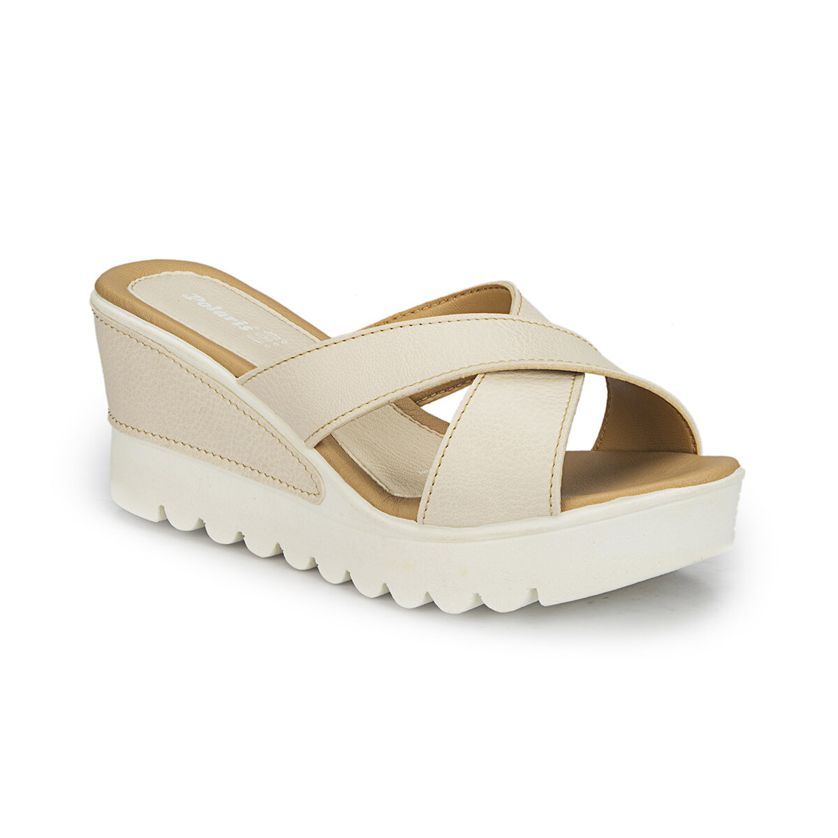 FLO 81. 308494.Z Beige Women 'S Wedges Slippers Polaris