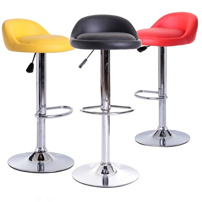 Stool ALIVERI, Plating, Similpiel Black