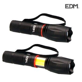 LED el feneri XL uzatılabilir LED ön 200 lümen ve yan 120 lümen EDM