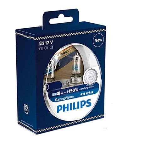 12342RVS2-Blister 2 Philips H4 RacingVision 12V60/55W P43t-38 S2