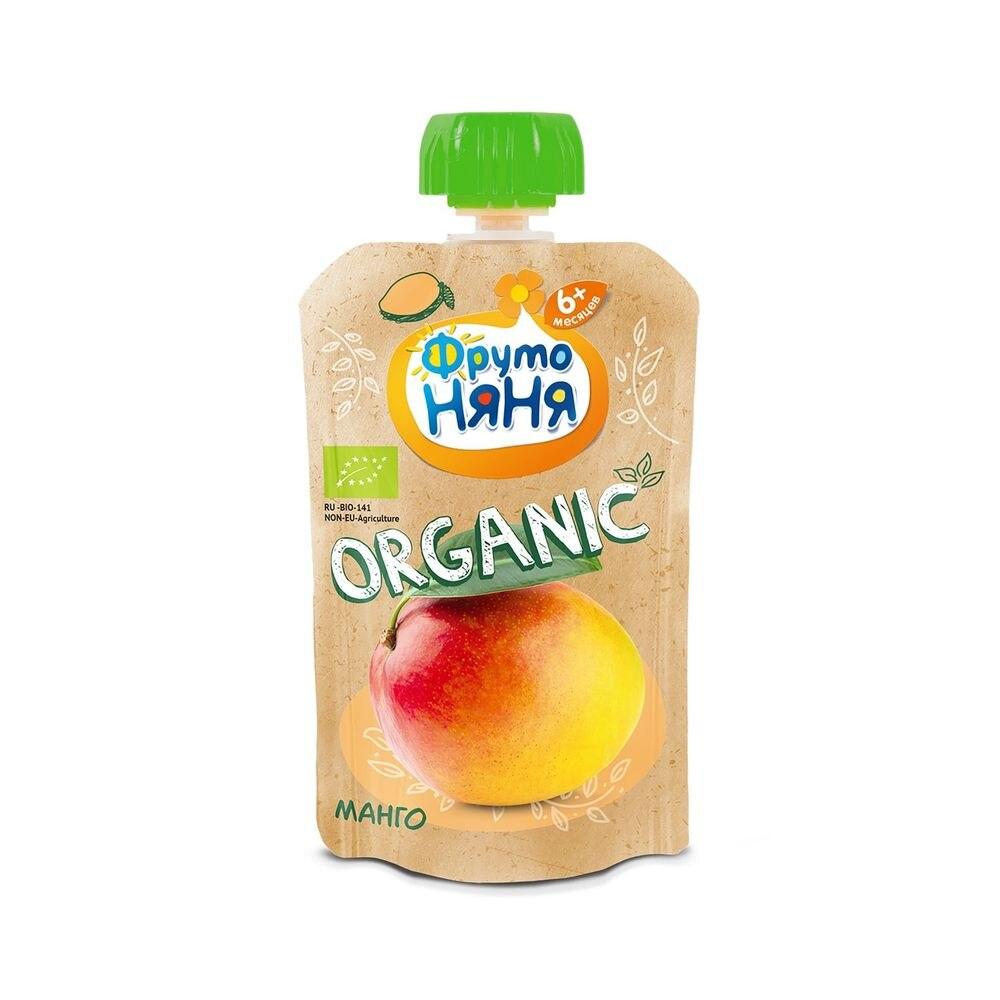 Пюре ФрутоНяня Organic из манго натуральное 90г с 6месяцев