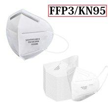 Masque de protection facial réutilisable FFP3, KN95, 5 couches, Non tissé, respirateur 100, 1 à 95% pièces