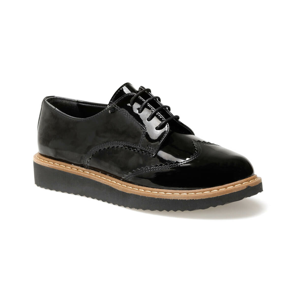 FLO DW19085 Black Women Oxford Shoes Miss F