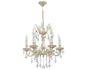 """Chandelier crystal pendant """"candle"""", 6 lamps, 18 m?, color gold"""