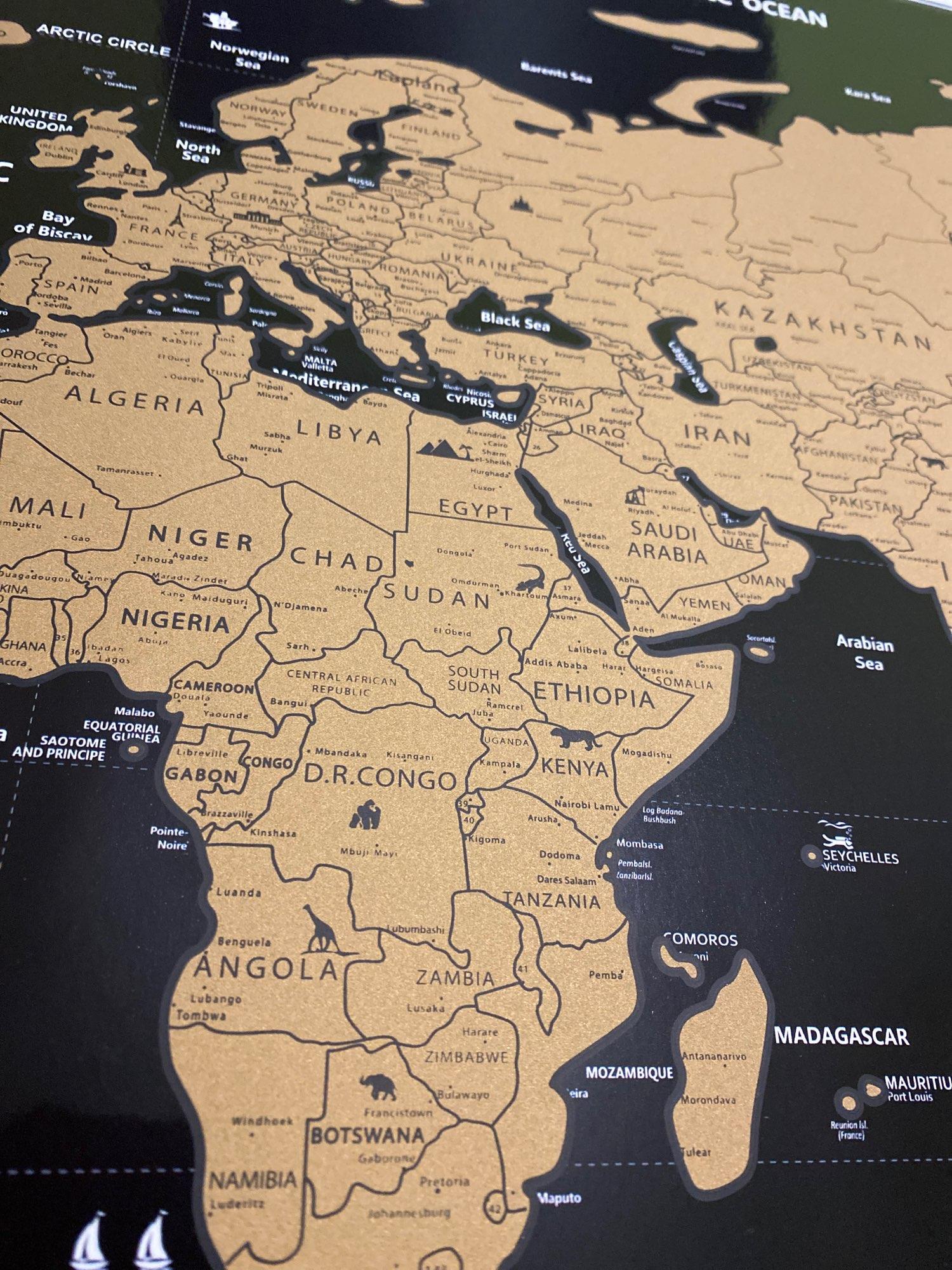 Mapa de Raspar Pôster Raspadinha do Mundo 82x60cm photo review