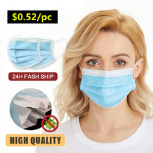 24H Ship Disposable Three-layer mask Profession Disposable Mask Surgical 3-Ply N95 KF94 Nonwoven Breathable Sofe Masks