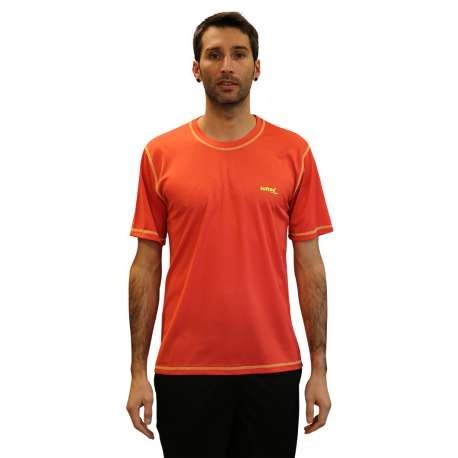 CAMISETA SOFTEE TECHNICS DRY COLORS - TALLA XXL - COLOR ROJO Y AMARILLO