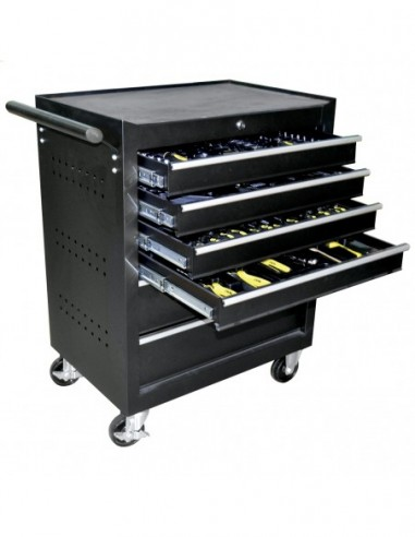 JBM 53195 TROLLEY TOOLS 6 DRAWERS BLACK-ARMED