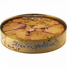 Canned tuna Ventresca in Verbena with olive oil 280 grams | Canned fish El Ronqueo | Canned gourmet