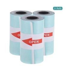 Печать наклеек рулон бумаги сразу термобумага с самоклеющейся 57*30 мм(2,17* 1.18in) для PeriPage A6 карманная бумага ANG P1/P2