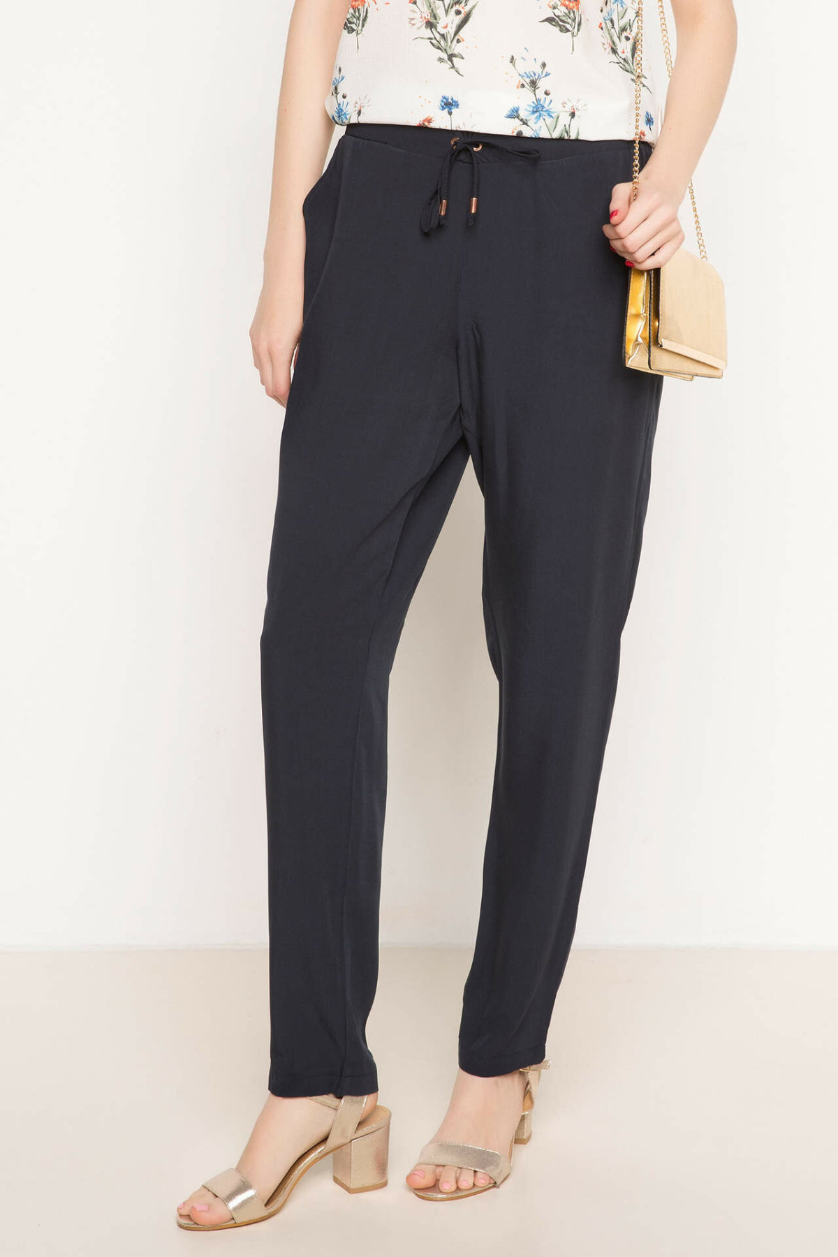 DeFacto Women Black Navy Blue Casual Trousers Spring Fall Adjustable Long Harem Pants 4 Colors Available-G7058AZ17SM