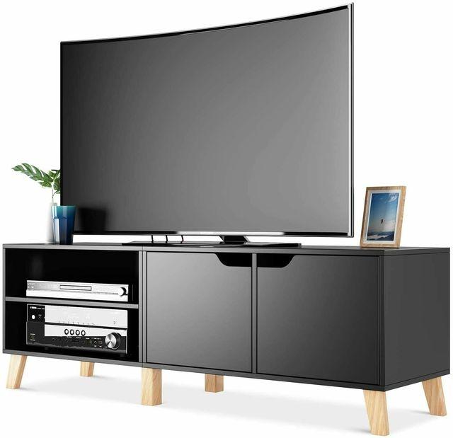 55 inch Modern TV Stand Console Center w/ Storage Cabinet  1