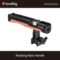 SmallRig 360 Degree Rotating Nato Handle For Universal DSLR Camera Cage Wood Handgrip With Cold Shoe Mount Accessories Rig 2362