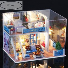 Diy Dollhouse Toys For Children Doll House  Hot Sale DIY Cabin Assembled Model Villa Men and Women Creative Birthday Gifts.