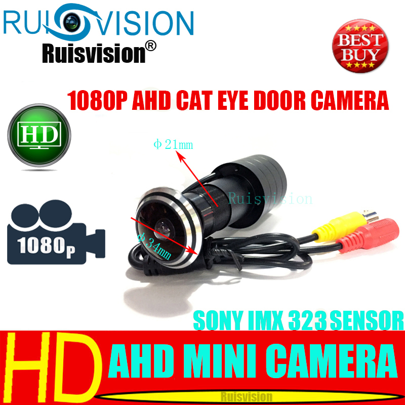 AHD SONY IMX323 1080P Cat Eye Door Hole Home Security Color Video Surveillance wide angle 4 IN 1 cctv Camera free shipping image