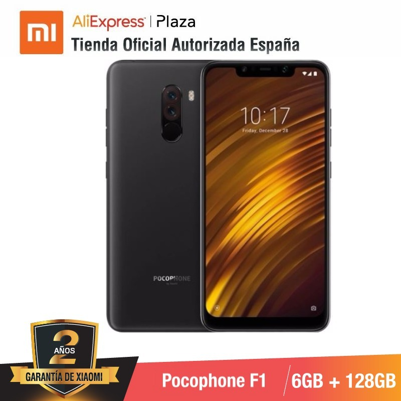 [Global Version For Spain] Xiaomi Pocophone F1 (Memoria Interna De 128GB, RAM De 6GB, Camara Dual De 12MP+5MP, Snapdragon 845)