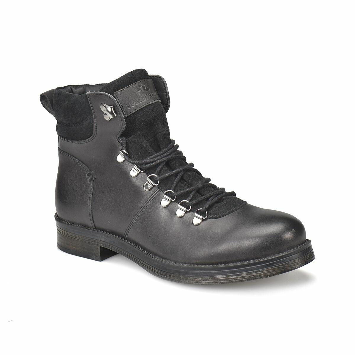 FLO TORONTO Black Men Boots LUMBERJACK