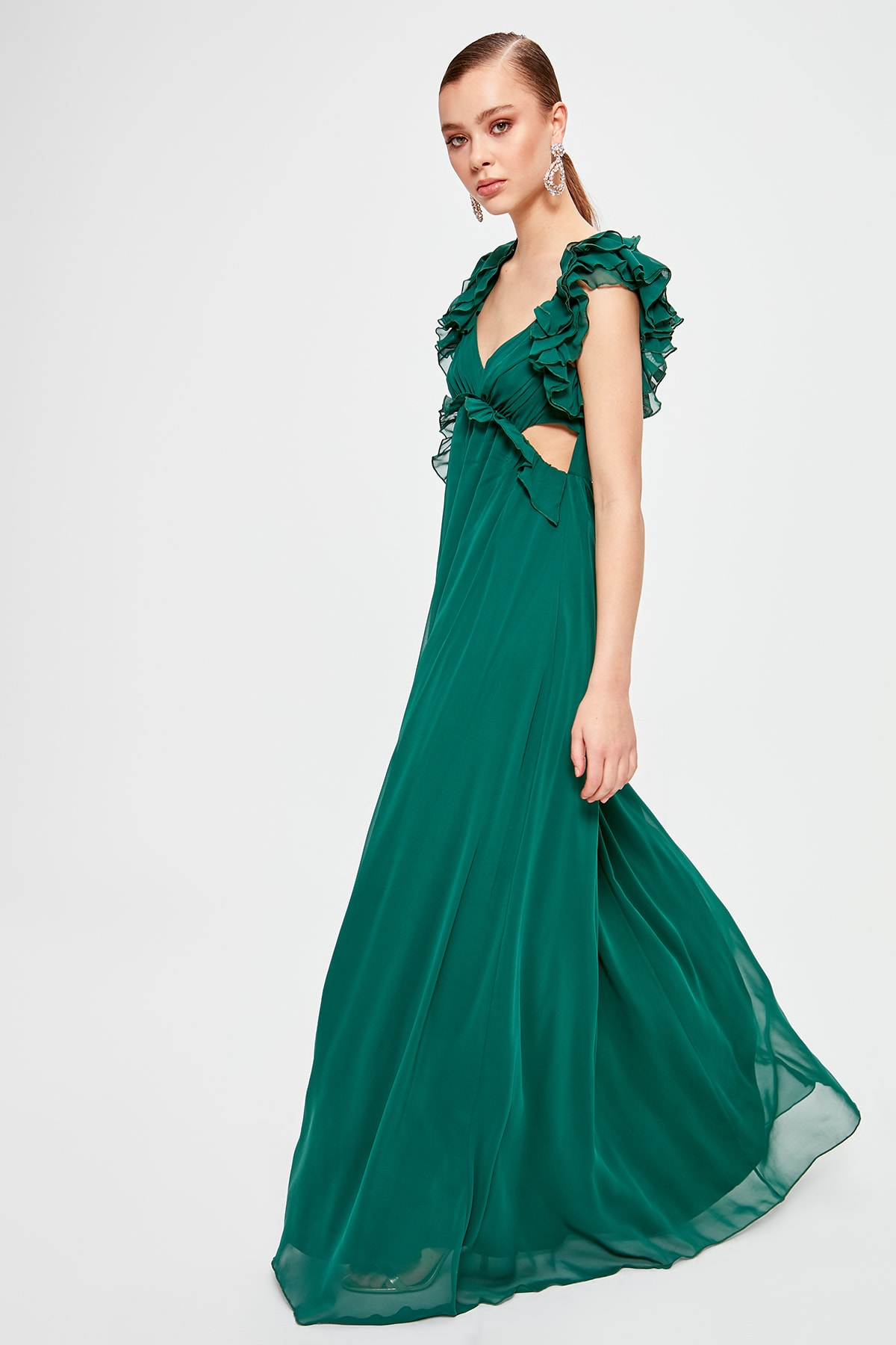 Trendyol Shoulder Detail Evening Dress & Prom Gown TPRSS20AE0003