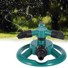 Aspersores de jardín para césped de riego automático, 3 boquillas de 360 grados, sistema de riego giratorio circular, suministros de jardín