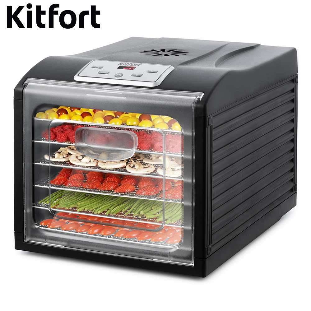 Dryer for vegetables and fruits Kitfort KT-1906 Dryer for vegetables and fruits Dehydrator for vegetables and fruits недорого