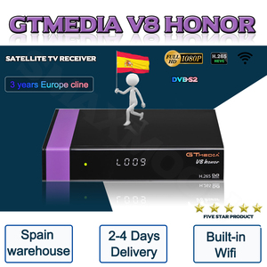 Hot sale Gtmedia V8 Honor 3 Years Europe cline same as Gtmedia V8 NOVA DVB-S2 Satellite Receiver H.256 Wifi V9 Super optional(China)