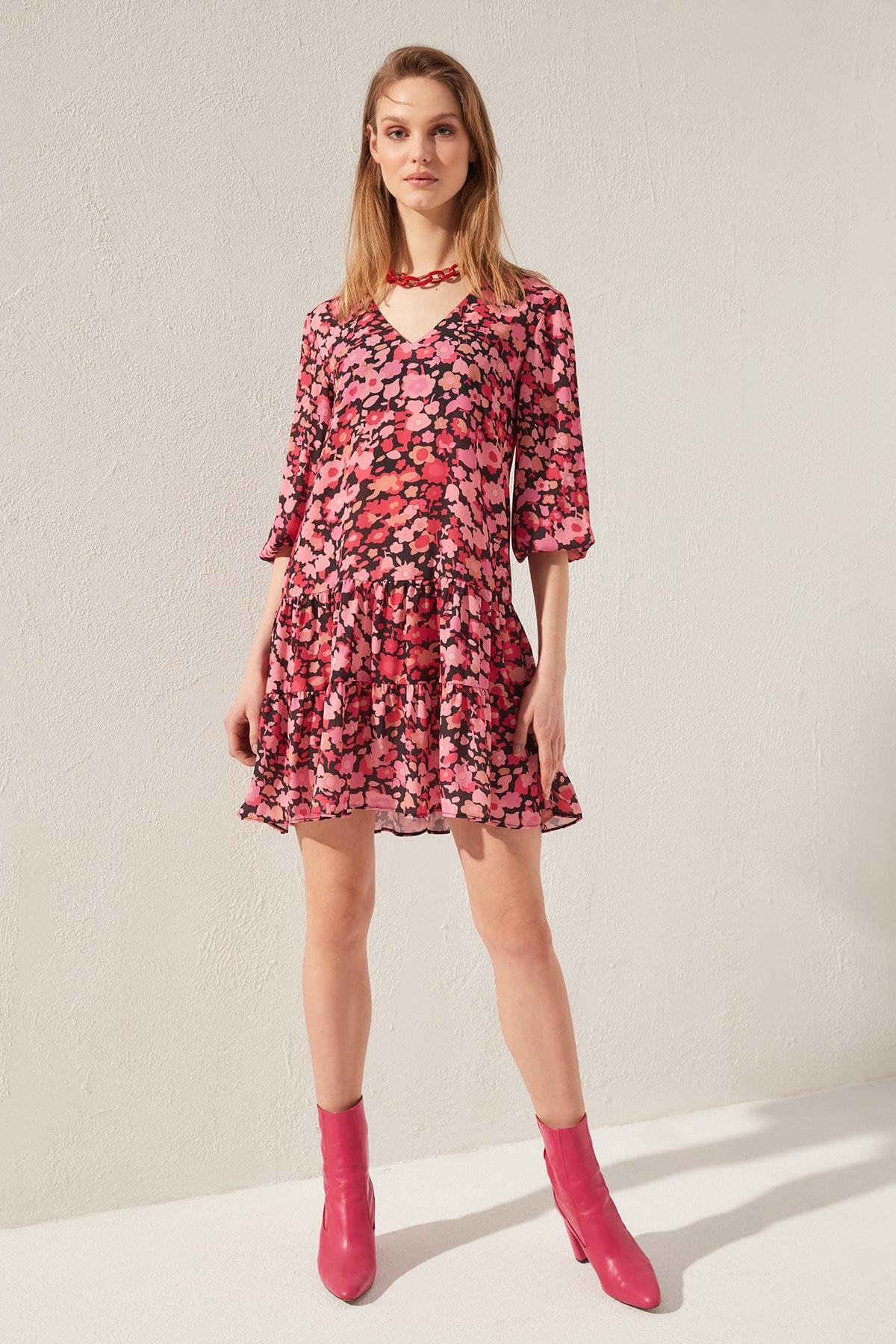 Trendyol Patterned Dress TWOSS20EL0413
