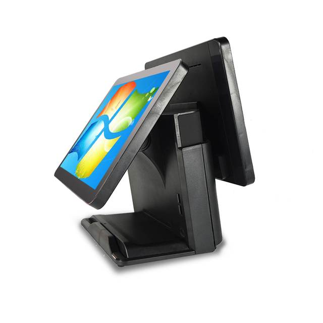 Système de point de vente de haute qualité pour les revendeurs, double écran 15 + 15, machine de point de vente et terminal, caisse enregistreuse électronique 2