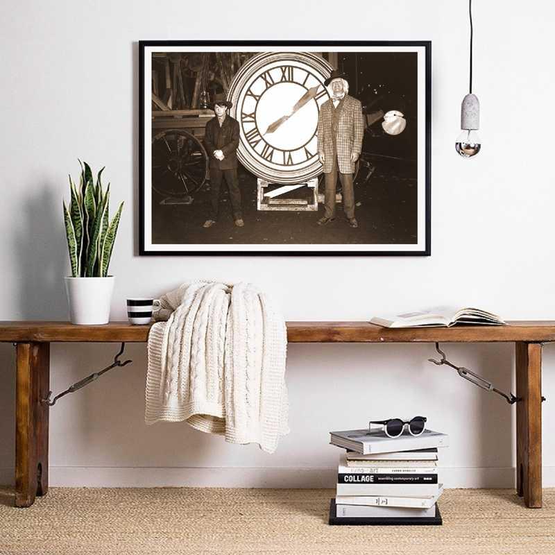 العودة إلى المستقبل المشارك الفيلم الكلاسيكي طباعة فيلم بديل صورة الرجعية Vintage نمط الرسم على لوحات القماش الجدارية ديكور المنزل