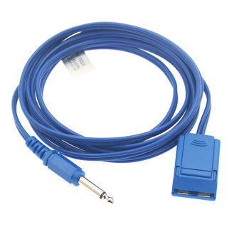 цена на 10PCS/Lot Compatible with 6.3 plug reusable ESU patient cable CE and ISO13485 certificates