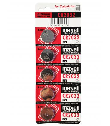 Button Batteries Maxell Original Battery CR2032 3V Lithium BATTERY In Blister 5X Units