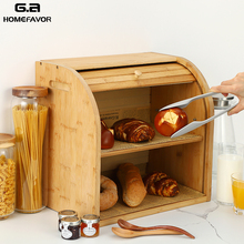 Storage Box Bamboo Bread Box Bins With Cutting Board Double Layers Food Containers Big Drawer Kitchen Organizer Home Accessories storage box bamboo bread box bins with cutting board double layers food containers big drawer kitchen organizer home accessories