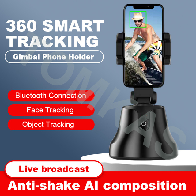 All-in-one Auto Smart Shooting Selfie Stick 360 Rotation Auto Face Tracking Object Tracking Phone Holder Desk Gimbal Stabilizer Uncategorized